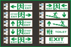Mẫu đèn exit KT670