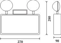 Kích thước đèn pemc210sw