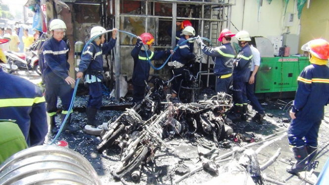 Cháy PGD Vietinbank Phan Văn Trị